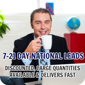 7 – 21 Day National Leads